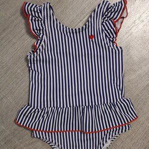 New Gap Baby Girl Americana July 4 Red White Blue Two Piece Swimsuit 3  3T NWT